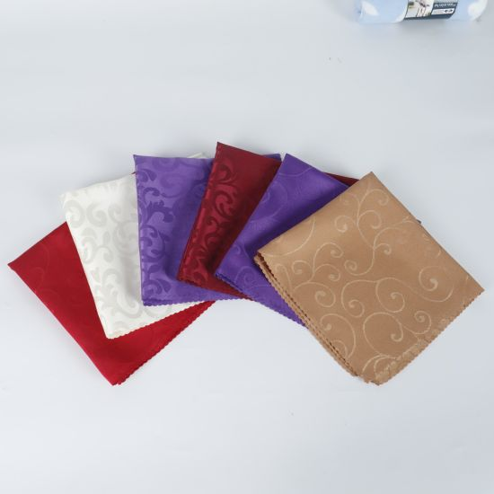 100% Polyester Hotel Airlin Table Cloth Cup Cloth Napkin