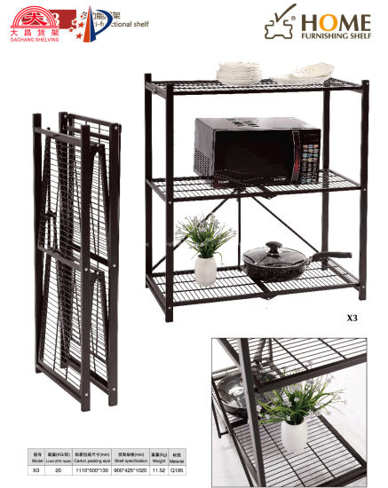 Customized Metal Storage Rack Stable Shelf Folding Racks