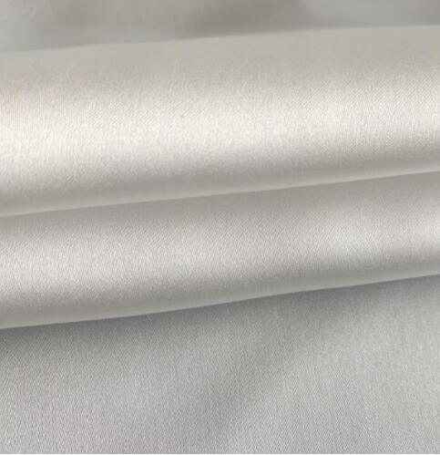 Cheap Price 100% Polyester White Color Fabrics Textiles 100 Polyester Satin Chiffon for Cloth pictures & photos