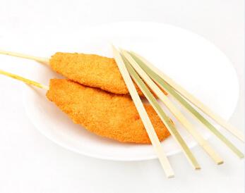 Natural Conventional Thin Flat BBQ Bamboo Sticks (BC-BS017)