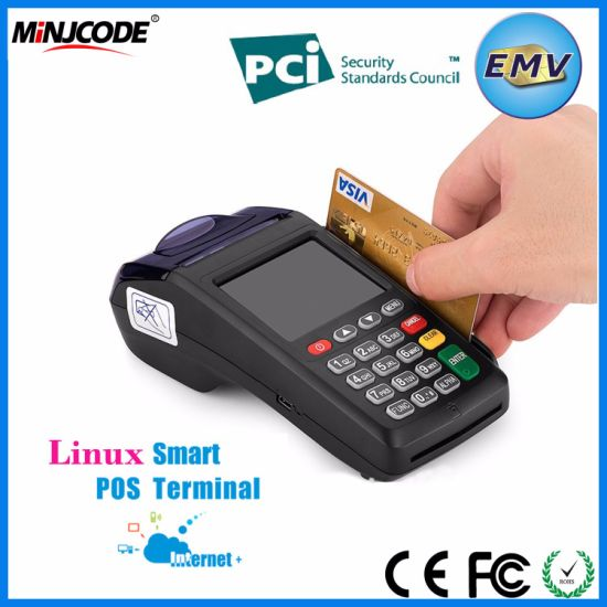 Handheld POS Terminal, Smart Mobile POS Payment Terminal with Thermal Printer, GPRS, Msr, Card Swipe Machine, New 7210 pictures & photos