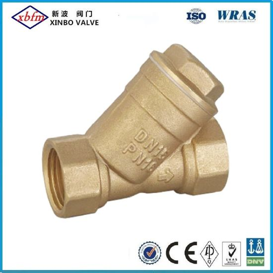 Brass Y Strainer Valve with Stainless Steel Filter pictures & photos