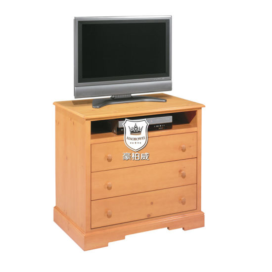 China Oak Tv Chest 3 Drawer Wooden Tv Stand For Hotel Rooms China