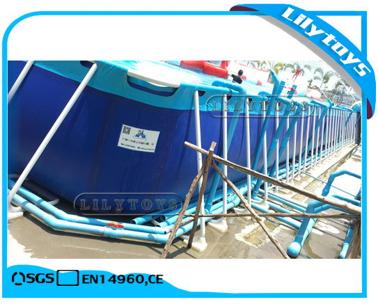 Custom Size Steel Frame Swimming Pool, Metal Frame Pool for Water Park pictures & photos