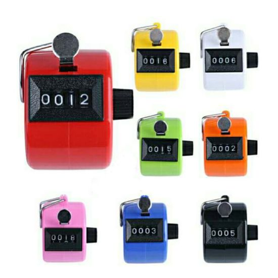 Mechanical Manual Finger 4 Digit Finger Hand Clicker Tally Counter Number USA