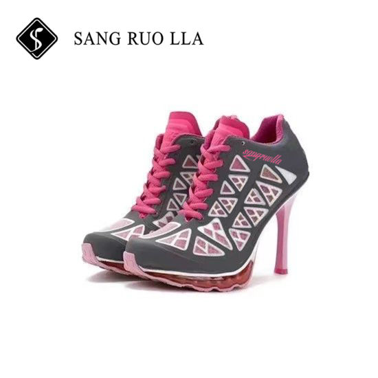 2017 New Design Good Quality Fashionable Lady High Heel Sport Shoes