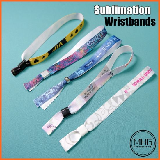 Disposable Fabric Polyester Sublimation Wristband with Serial Number Plastic RFID Tags RFID Wrist Band pictures & photos