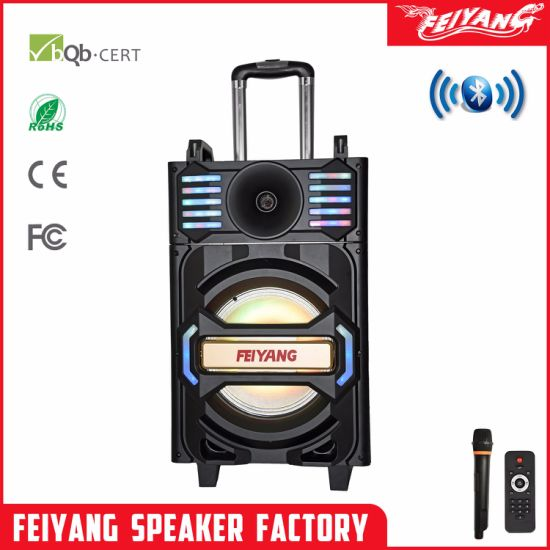 Feiyang/Temeisheng 12 Inch Omni-Directional Rechargeable Bluetooth Speaker with LED Light Qx-1212 pictures & photos