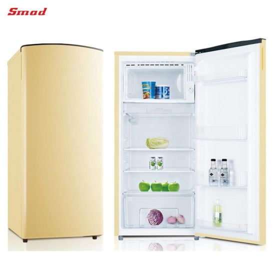 Colorful Retro Fridge /Blue Colored Refrigerator with Lock and Key