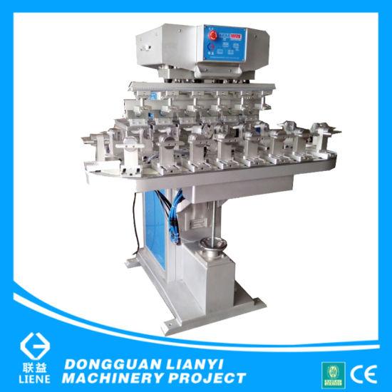 Dongguan Semi-Auto Four Color Pad Printer with Conveyor Worktable