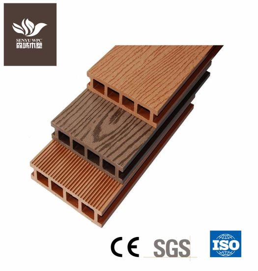 Building Material Wood Grain Outdoor WPC Composite Decking Board