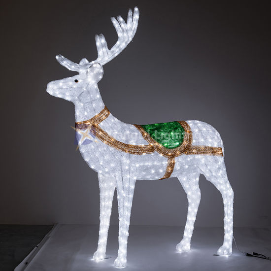 Deer 3D Motif Light Fine Workmanship for Christmas and Shopping Mall Decoration pictures & photos