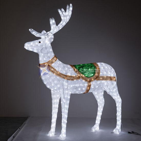 Deer 3D Motif Light Fine Workmanship for Christmas and Shopping Mall Decoration