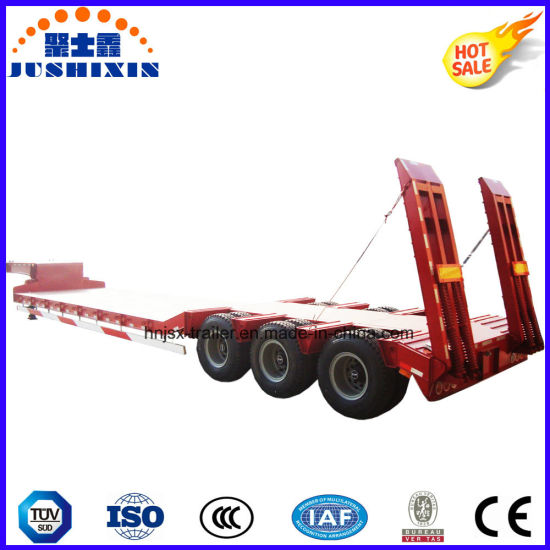 Direct Industry 80 Tons-100 Tons Capacity Four Axles Low Flatbed Trailer for Sale pictures & photos