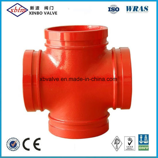 Ductile Iron Pipe Fitting of Threaded Cross Joint Pipe Fitting pictures & photos