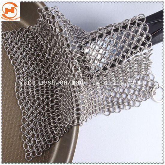 Chain Mail Pot Cleaner Cast Iron Chain Scrubber