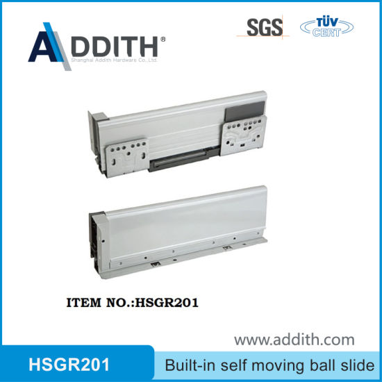 Concealed Ball Bearing Soft Close Drawer Slide for Metal Box
