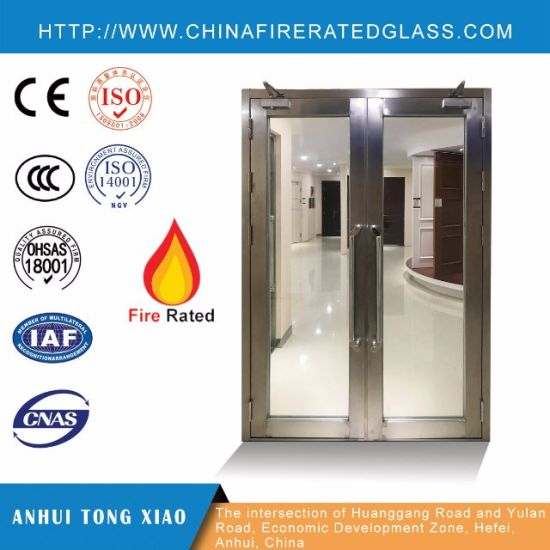 China Glazed Fire Rated Steel Doors With Rating 90 Minutes China