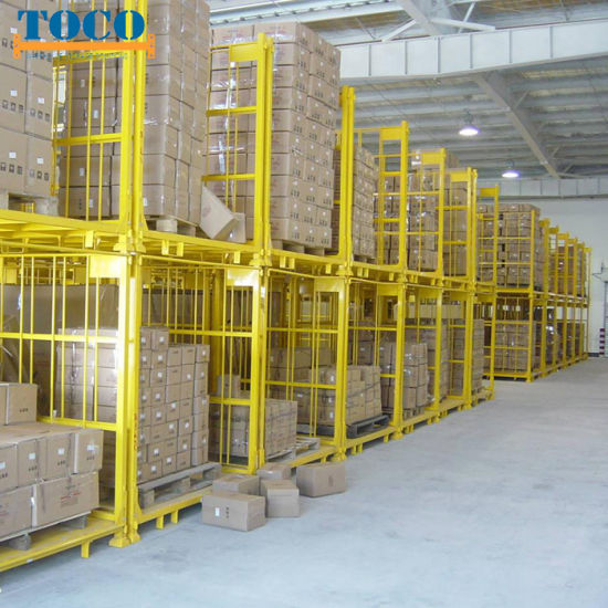 China Manufacturer Painted Talior-Made Movable Pallet Stacking Rack with Mesh Wall