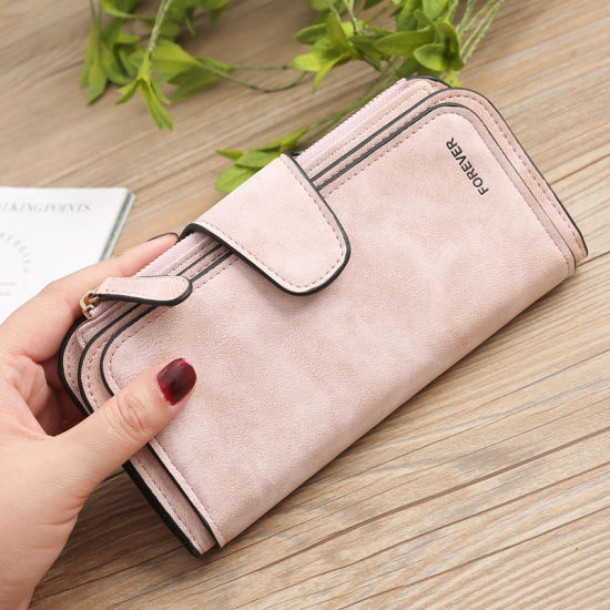New Fashion PU Leather Lady Purse Card Bag Women Wallets