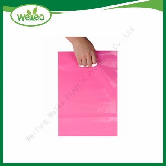 China Biodegradable Plastic Bag Die Cut Handle Bag - China