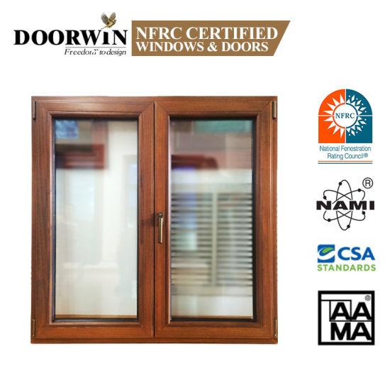 Modern Designs French Models Dimensions Solid Wooden Arch Teak Wood Aluminium-Wood Clad Casement Windows