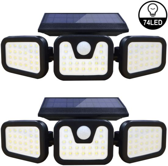 LED Motin Sensor Security Lights Solar Light with Wide Bean Angle Low Safe Voltage 3.6V Adjustable IP65 Waterprofe