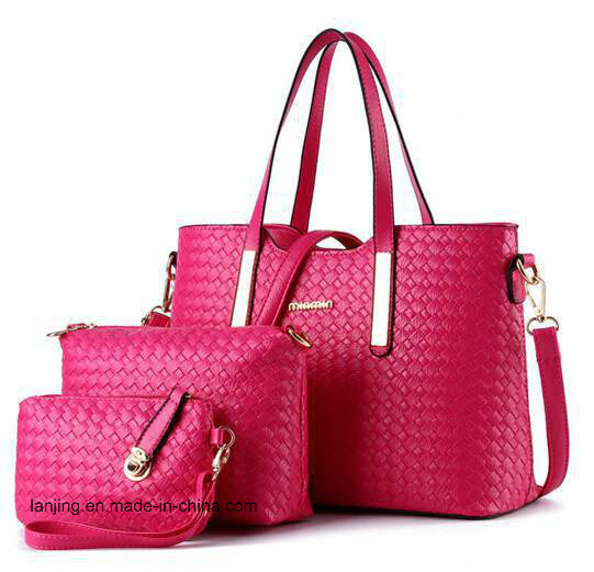 38f68bb7cbb5d 2019 New Trend Amazon Hot Sale Woven Pattern Leather 3PCS/Set Lady Tote Bag  Handbag - China Hand Bag, Lady Handbag   Made-in-China.com