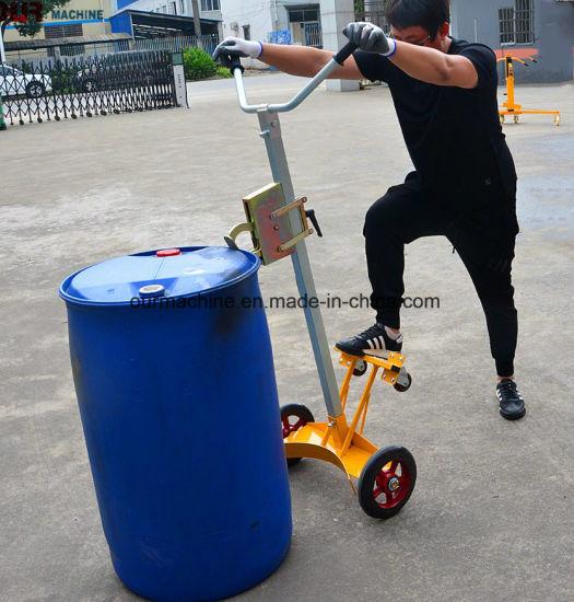 China Factory Manufacturing 450kg Portable Oil Drum Trolley De450d