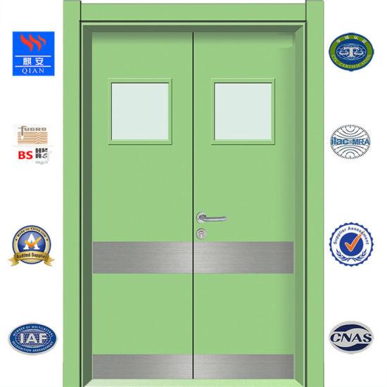 China Interior Hospital Door Hotel Fire Door Hpl Wooden Door With