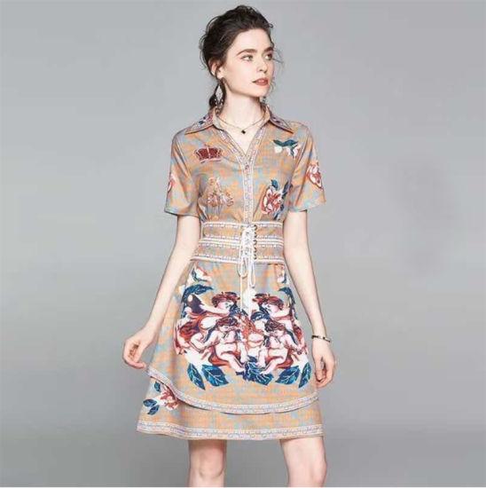 Linen Medium Long Daily Fashion Women Wear Party Dress