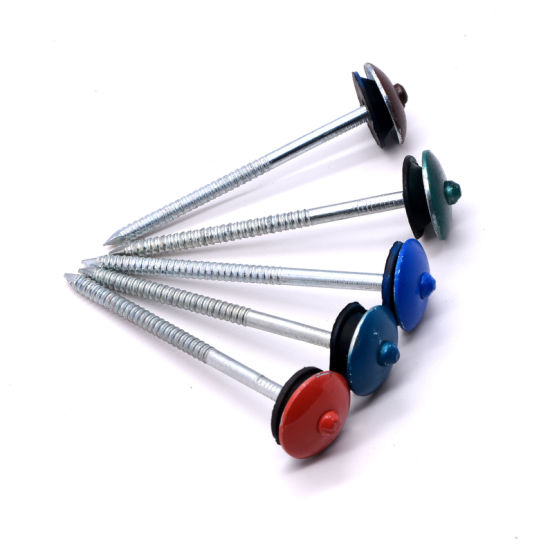 China Manufacturer Corrugated Roofing Nails with Rubber Washer