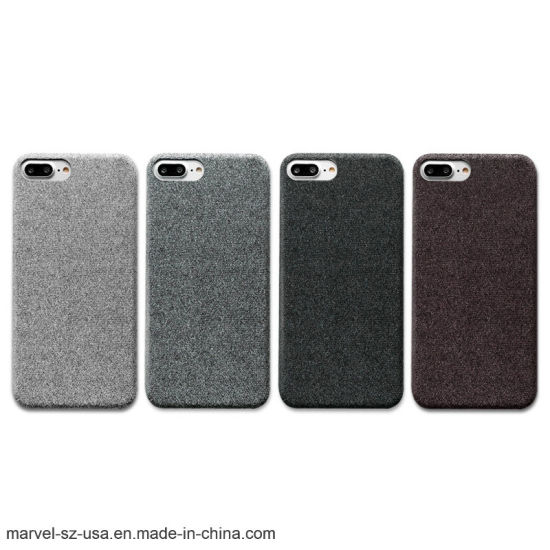 Cloth Texture Soft TPU Phone Cover Phone Case for iPhone