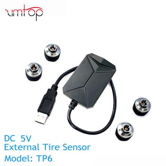 Car TPMS Tire Alarm for Android Car DVD Auto Tire Pressure Monitoring  System 4 Sensors Tire Temperature Alarm