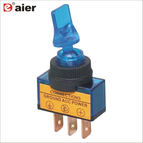 on off Automotive Electric 12V Lighted PCB Toggle Switch