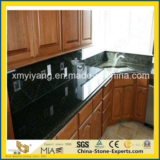 Verde Ubatuba Granite Kitchen Countertop