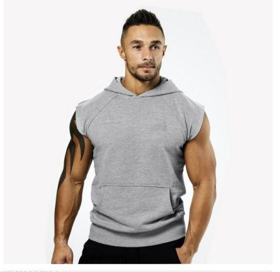 85a506ffece150 Colour-Store Men′s Bodybuilding Sleeveless Hoodie Gym Tank Top Workout  Hooded Tanks Tops