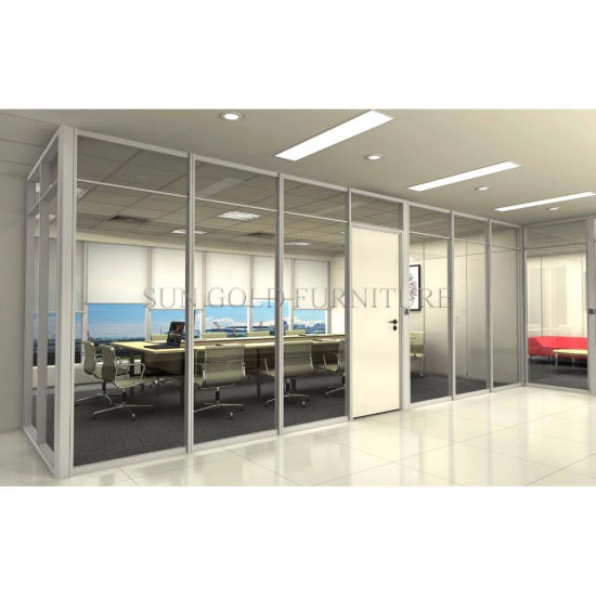 Modern 12mm Tempered Frosted Glass Office Partition Wall (SZ WS573)