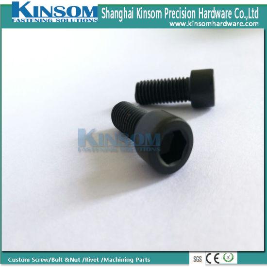 Stainless Steel Hex Socket Cap Screw with Sandblasting Black Coating