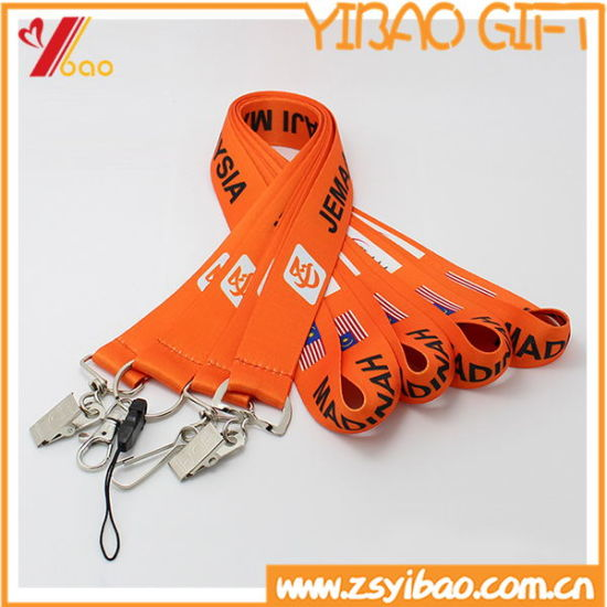 Customized Polyester Ribbon Lanyard