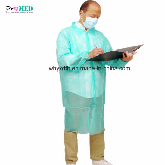 Disposable Laboratory Visitor Coat Surgical Supply pictures & photos
