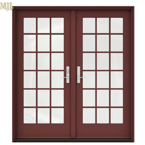 China Best Prices External French Grills Design Aluminum Casement