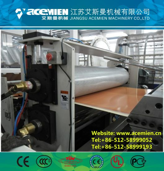 Plastic Composite Bamboo Roof Tile Making Machine/ PVC Bamboo Roof Tile Making Machine/ Vinyle Bamboo Roof Sheet Making Machine pictures & photos