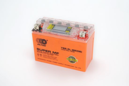 12V 6.5ah 12n6.5L-BS Outdo Digital Display Gel Mf Maintenance Free Factory Activated Power Sports High Performance Rechargeable Lead Acid Motorcycle Battery