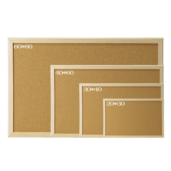 20*30 Cm Bulletin Notice Message Cork Board with Wooden Frame-Pine Wooden