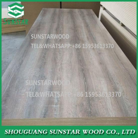 High Glossy/Matt/Embossed/UV/Natural Wood Veneer Faced Melamine Laminated MDF Board for Furniture and Decoration