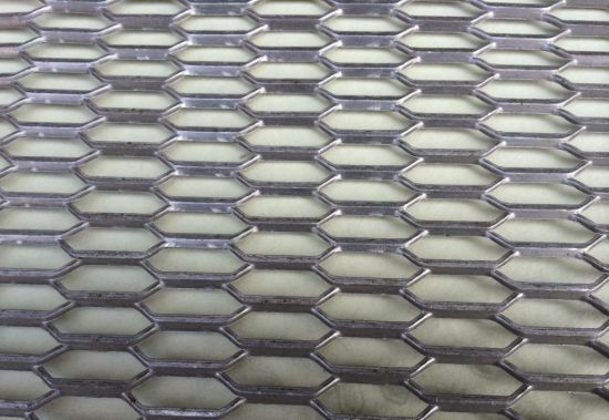 China Low Carbon Steel Diamond Expanded Metal Wire Mesh Panel Sheet ...