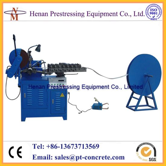 Chinese Supplier of Post Tensioning Ducts Making Machine