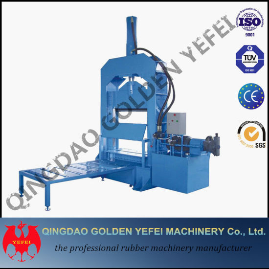 Xql-160 Type Hydraulic Rubber Cutter / Rubber Cutting Machinery pictures & photos