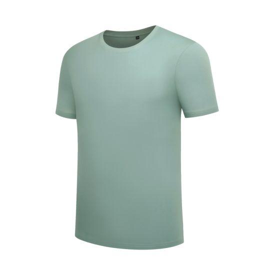 Custom Label Logo 100% Cotton Blank T-Shirt Solid Short Sleeve Crew Neckt-Shirt